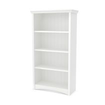 South Shore Gascony 4-Shelf Bookcase White