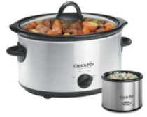 8 Qt. Stainless Steel Slow Cooker, with Little Dipper - SCV803SS-033