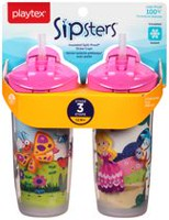 Playtex Baby Sipsters Spill-Proof Kids Straw Cups