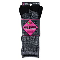 Fruit of the Loom Women's 2 Pair Work Gear Pro Socks Black