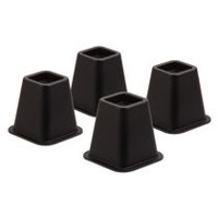Bed Risers, Set Of 4, Black