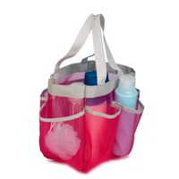 Pink 7 Pocket Shower Tote