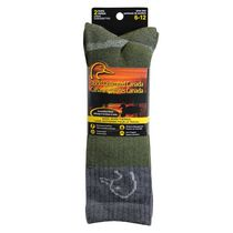 Ducks Unlimited Men's Wool Work 2-Pair Thermal Socks Green