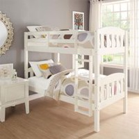 Dorel Twin Over Twin Wood Bunk Bed