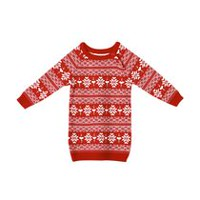 George Toddler Girls' Snowflake Sweater Dress Red 3T