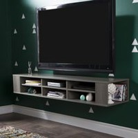 South Shore City Life Wall Mounted Media Console Gray Maple