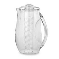 Prodyne Clear Acrylic 2.5 Quart Fruit Infusion Pitcher