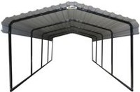 Arrow Black/Eggshell Steel Carport