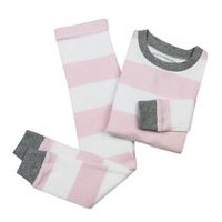 Burt's Bees Girls' Rugby Stripe Tee and Pant Set 6-9 months
