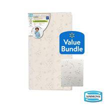 Simmons Organic Sleep Bundle Crib Mattress & Protector