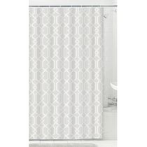 MAINSTAYS Fabric Shower Curtain with 12 Hooks