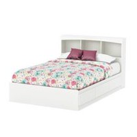 South Shore SoHo Full Size Mates Bed with Drawers and Bookcase Headboard - 54 inch Set,