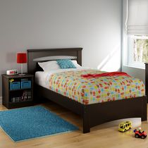 South Shore Smart Basics Twin Bed Set - 39 inch with Nightstand