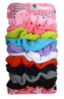 Bejeweled Waffle Fabric Twister Ponytail Holders