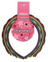 Bejeweled Fabric Covered Headbands