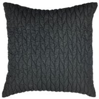 hometrends Quilted Charcoal Decorative Cushion