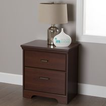 South Shore Versa 2-Drawer Nightstand Royal Cherry