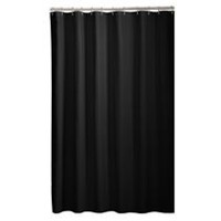 Mainstays Microfiber Fabric Shower Curtain Liner Black