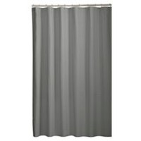 Mainstays Microfiber Fabric Shower Curtain Liner Grey