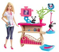 Barbie Panda Caretaker Playset