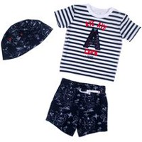 George Boys' 3-Piece Short Set Black, White 18-24 months