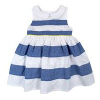 George Girls Eyelet Stripe Dress 2T