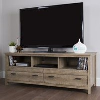 South Shore Exhibit TV Stand for TV's up to 60 inches Weathered Oak