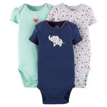 Child of Mine made by Carter's 3-Pack Newborn Girl Bodysuits 0-3 months