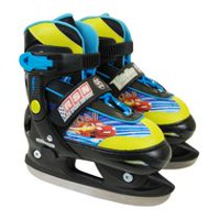 Disney Cars 2 in 1 Adjustable Switcher Skate - Y12-2, Black, Blue and Neon Yellow