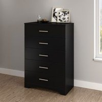 South Shore Gramercy 5-Drawer Chest Pure Black