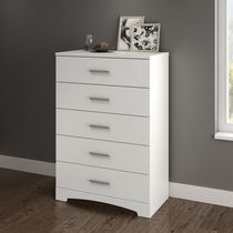 South Shore Gramercy 5-Drawer Chest Pure White