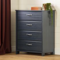 South Shore Ulysses Blueberry 4-Drawer Chest