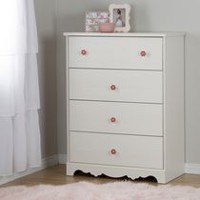 South Shore Lily Rose White Wash 4-Drawer Chest