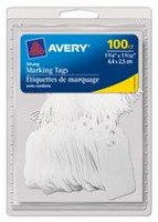 "Avery Marking Tags, 06732, 1-3/4"" x 1-3/32"", White"