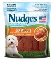 Nudges® Jerky Cuts Made with Real Chicken and Duck Wholesome Wet Dog Treats