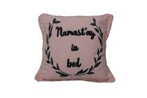 Ivory Park Typo Namaste Pink Decorative Throw Cushion