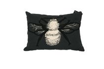 Ivory Park Embroidered Bee Decorative Throw Cushion