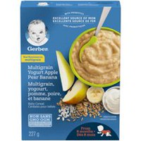 Nestlé Gerber Wheat, Yogurt, Apple, Pear & Banana Baby Cereal