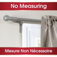 "Maytex 48"" - 120"" Café Window Curtain Rod Brushed Nickel"
