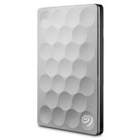 Seagate® Backup Plus Ultra Slim STEH1000100 1 TB USB 3.0 Portable Drive, Platinum