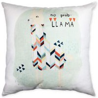 hometrends lama Print Decorative Cushion