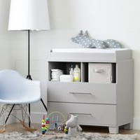 South Shore Cuddly Changing Table Soft Gray