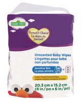 Parent's Choice Unscented Baby Wipes Sensitive Skin 240 Wipes