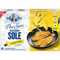 High Liner Pan-Sear Sole Lemon Pepper Lightly Breaded Whole Fillets