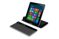 Adesso Aluminum Bluetooth® Keyboard with Universal Case Stand