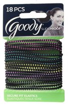 Goody Slide Proof Secure Fit Elastics, Thin Bright Tread - Assorted