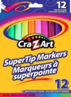 12 Supertip Markers NON Washable