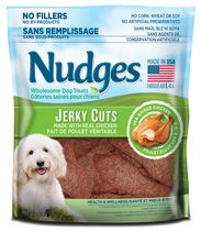 Nudges® Jerky Cuts Made with Real Chicken Health and Wellness  Wholesome Wet Dog Treats