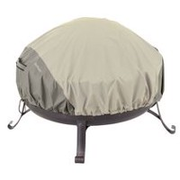 Classic Accessories Belltown Fire Pit Cover - Round, Grey