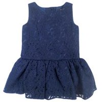 George Girls' Sleeveless Lace Dress 0-3 months